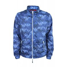 Armani Jeans V6B10 Blue Eagle Camo Print Jacket From Ace Collection