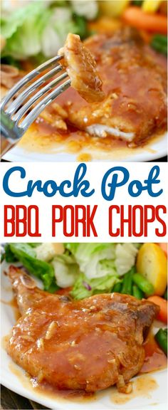 Crock Pot BBQ Pork Chops recipe from The Country Cook #recipes #ideas #crockpot #slowcooker #pork #porkchops #bbq #barbecue #ideas