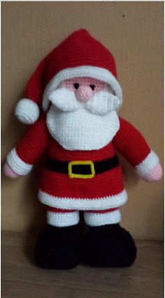 Free crocheting patterns - how to crochet a baby hat - DIY hand made home made santa hat pattern for babies - Christmas time crochet tutorial for todd Another Jean Greenhowe pattern, made for my lovely sister for Christmas 2013 Gruau's artwork often echoe Crochet Santa, Holiday Crochet, Diy Crochet, Crochet Crafts, Crochet Dolls, Crochet Projects, Crochet Christmas Decorations, Christmas Knitting Patterns, Amigurumi Patterns