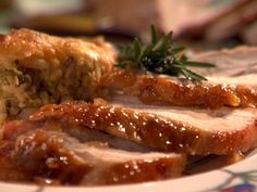 Roasted Turkey Breast with Peach Rosemary Glaze (Food Network)