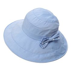 Siggi Womens Summer Bucket Boonie UPF 50+ Wide Brim Sun Hat Cord Cap Beach Accessories Blue. For product & price info go to:  https://all4hiking.com/products/siggi-womens-summer-bucket-boonie-upf-50-wide-brim-sun-hat-cord-cap-beach-accessories-blue/