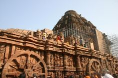 The Sun temple is in the town of Konark dedicated to Lord Sun. It resembles his carriage, i.e. a chariot, with 12 wheels & dragged by 7 horses. Constructed in the 13th century by king Narasimhadeva it has many legends. Rabindranath Tagore said 'Here the language of stone surpasses the language of man.' www.epujaservices.wordpress.com