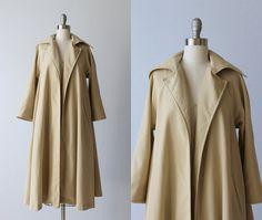 Vintage Trench Coat / Khaki Trench Coat