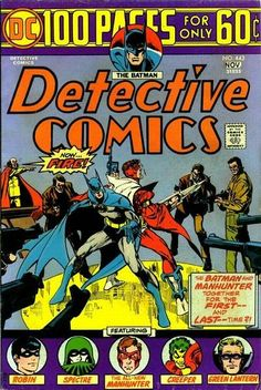 "At this point ""Detective"" goes 100 pages. Twenty of them bravely and boldly go to a Batman/Manhunter pairing concluding the latter's run. Also: Reprinting the origin of The Creeper, Steve Ditko's creepiest DC character! And: The Tweeds, Batman's ""Dum"" and ""Dumbest"" foes!"