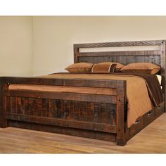 Amish Handcrafted Timber Bed With Drawers - Southern Outdoor Furniture
