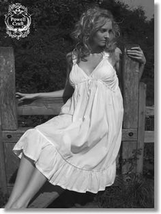 457e8d1768 Short Sleeved Victorian Cotton Nighties White Nightgown