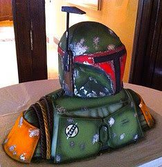 Boba Fett cake- now this is what we should have had at the wedding