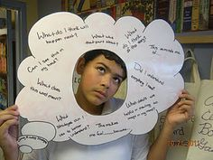 reading is thinking bubbles - what fun  We used this for our metacognition unit.