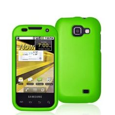 Samsung Transform / M920 Crystal Rubberized Case - Green (Wireless Phone Accessory)