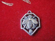 honey ray hexagon ring choker bee very thin Real leather honey comb very slim Choker real leather hexagonal ring bee