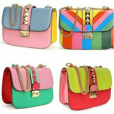❤ Colorful #bag #purse #handbag #clutch