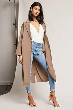 Oversized Single-Breasted Trench Coat Jetzt bestellen unter: https://mode.ladendirekt.de/damen/bekleidung/maentel/trenchcoats/?uid=accb519a-a336-5f7e-96a1-df433868ade1&utm_source=pinterest&utm_medium=pin&utm_campaign=boards #women's #trenchcoats #accessories #clothing #outerwear #bekleidung #maentel Bild Quelle: forever21.com