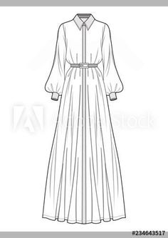 DRESS Fashion technical drawings vector template - Buy this stock vector and explore similar . : DRESS Fashion technical drawings vector template - Buy this stock vector and explore similar vectors at Adobe Stock Dress Design Sketches, Fashion Design Sketchbook, Fashion Design Drawings, Fashion Sketches, Fashion Drawing Dresses, Fashion Dresses, Drawing Fashion, Skirt Fashion, Fashion Fashion