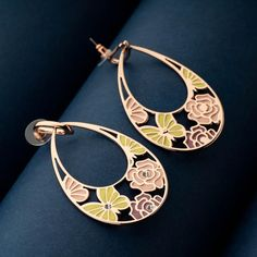 Stunning Statement Earrings for girls and women. Enamel Jewellery Online. Multicoloured Long Earrings. Jewellery for teenagers. Designer Earrings Danglers for party wear or casual hangout. Jewellery for black dress and western dresses. Tear-drop earrings design. Fashion Earrings online at Blingvine. Girls Earrings, Women's Earrings, Enamel Jewelry, Jewellery, Fashion Earrings Online, Western Dresses, Simple Outfits, Teardrop Earrings, Designer Earrings