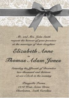 So lovely for a rustic wedding. The style steps it up a little! Burlap and Lace Rustic Wedding Invitation Wedding 2015, Fall Wedding, Our Wedding, Dream Wedding, Wedding Stuff, Renewal Wedding, Wedding Photos, Wedding Paper, Wedding Cards