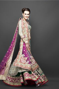 Indian bridal style lehenga