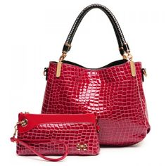 Crocodile Print Design Shoulder Bag For Women