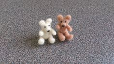 Needle felted miniature teddy bears  reserved to by FeltedByRikke, $30.00