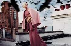 This 'Papercut Magazine' Submission Features Flying Crows #hitchcock #photoshoots trendhunter.com