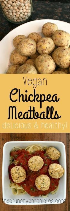 "Vegan Chickpea Meatball...hummm I have some ideas on what I can add to these to make them taste more ""beef"" like..."