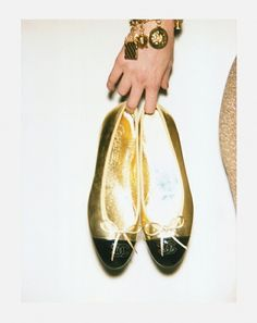 The golden slippers.