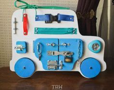 Busy Board Activity Board Large Toddler Busy by FourHornsDesign