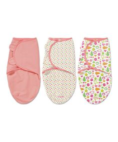 Another great find on #zulily! Pink Fruit SwaddleMe® Set #zulilyfinds