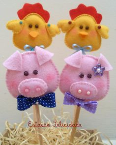 Love the pig!  Pencil toppers.