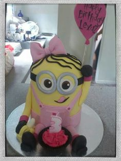 Girl minion cake for Lexuz