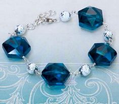 This Glamorous Glass Bead Bracelet is perfect for a night on the town.