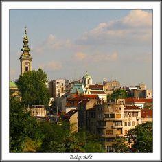 Belgrade Old Town - Belgrade, Serbia, pogled sa save na kosancicev venac i sabornu crkvu