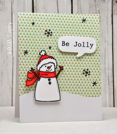 Hi Everyone! Today I have two fun cards to share with you. Kasia Curry created this first card...