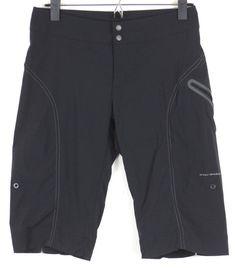 COLUMBIA Titanium Athletic Shorts Womens Size 2 Black Hiking Cycling Omni Shade #Columbia #Shorts