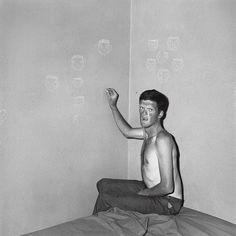 "Roger Ballen - Outland ""Man Drawing Chalk Faces"""