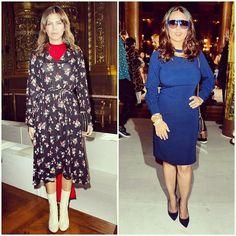 """dashazhukova salma hayek stella mccartney #event #celebrity #celebs #celebritystyle #celebritylook #fashionblogger #hedonismbysisi #pfw…"""""""
