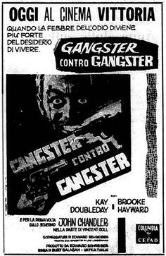 """Gangster contro gangster"" (Mad Dog Coll, 1961) di Burt Balaban, con John Davis Chandler e Kay Doubleday. Italian release: August 23, 1963 #MoviePosters #GangsterMovies"
