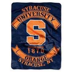 Syracuse Orange NCAA Royal Plush Raschel Blanket (Rebel Series) (60x80)
