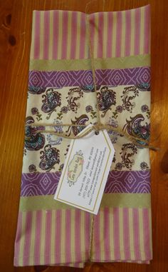 Hey, I found this really awesome Etsy listing at https://www.etsy.com/listing/258249411/tea-towel-set-of-two-coordinating