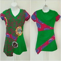 """SOLD Urban chic Patchwork top NWT Brand new with tags Urban chic top featuring Multi colors, with thread and beaded details.Pair with your favorite leggings or jeans and you are set!!!!  100%cotton Bust approx 16.5 Length approx 27.5"""" Tops Tees - Short Sleeve"""