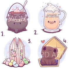 HP Sweets Stickers and/ or Prints or Fanart Harry Potter, Arte Do Harry Potter, Cute Harry Potter, Harry Potter Artwork, Harry Potter Drawings, Harry Potter Tumblr, Harry Potter Pictures, Harry Potter Wallpaper, Harry Potter World