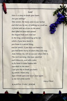Lead by Mary Oliver