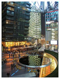 Inside of the Sony Center in Berlin