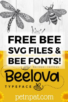 Free Bee SVG Files & Bee Fonts: Where To Find Them!  #bees #insects #bugs #svg #fonts #beekeeping #honey #beekeeper #cricut #silhouette Bee Silhouette, Silhouette Cameo Free, Silhouette Portrait, Bee Stencil, Stencils, Cricut Svg Files Free, Free Svg Fonts, Cricut Tutorials, Cricut Ideas