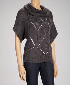 Take a look at this Dark Gray Cowl Neck Sweater by Love 4 Luck on #zulily today!