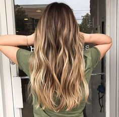 Remy Clip On Human Hair Brown Ombre Color Highlighted Clip In Hair Extensions Best Ombre Hair, Brown Ombre Hair, Brown Blonde Hair, Ombre Hair Color, Long Ombre Hair, Bayalage Light Brown Hair, Blonde Honey, Brunette Color, Purple Hair