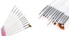 lot 12 pinceaux nail art manucure deco french manucure gel uv striper one stroke