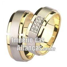 12b911b534f Alianças de noivado e casamento em ouro amarelo e ouro branco 18k