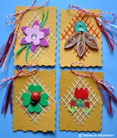 Martisoare cusute Spring Activities, Activities For Kids, 123 Cross Stitch, Seed Art, Flowers For Mom, Diy And Crafts, Crafts For Kids, Craft Projects, Projects To Try