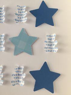 "Image of Bears/Stars - Medium (9"" sq.) - It's a Boy – Blue"