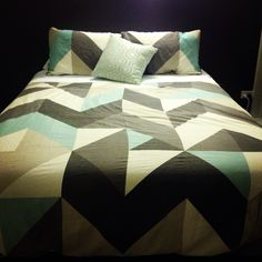 geometric bedspread
